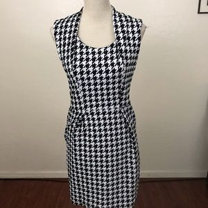 Elementz Petite Houndstooth Sheath Dress Size PM